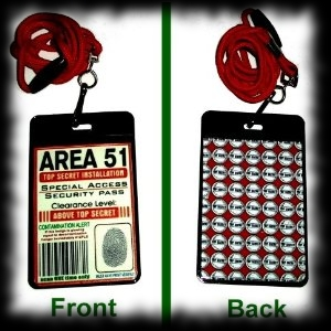 Area 51 Security Badge Halloween Costume Decoration