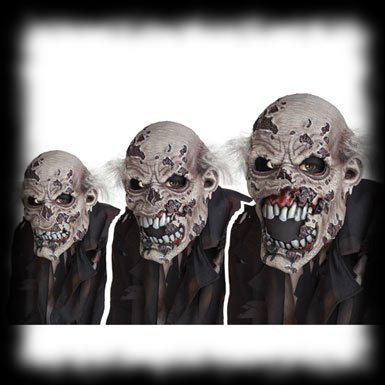 Ani-Motion Zombie Mask Moving Animated Halloween Costume Mask