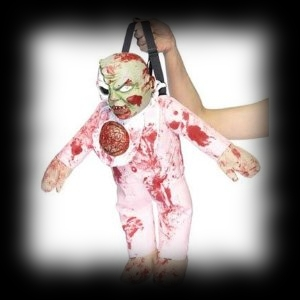 Party Ideas Zombie Theme Bloody Baby Zombie Prop