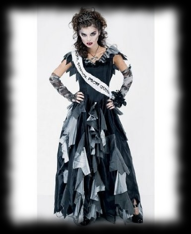 Party Ideas for Halloween Girls Prom Dress Zombie Costume